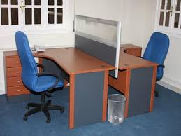 office desk workstations. Face To L Shape Tablestation For Two Persons With Divider Blue Office Chairs Wheels Desk Workstations W