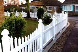 upvc white plastic picket fencing