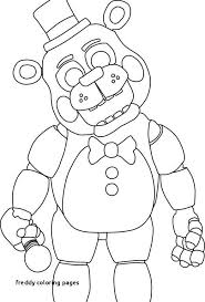 Awesome Fnaf Toy Freddy Coloring Pages Doiteasyme