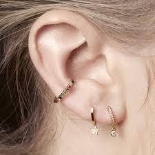 No Piercing Rainbow Ear Cuff