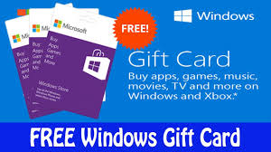 free windows gift card you