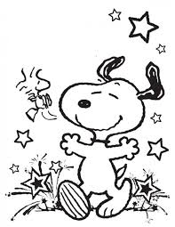 Small Picture Snoopy coloring pages