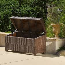 jeco white wicker patio furniture storage deck box ori003 b the resin wicker storage stunning outdoor wicker storage chest christopher knight home free