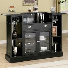 at home bar furniture. Rear View Of Home Bar With Extensive Storage And Glass-faced Cabinets. At Furniture N