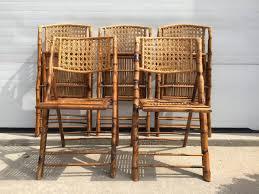 bamboo wicker folding chairs