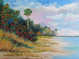 daily painting 1440 beach dreams indian river oil painting