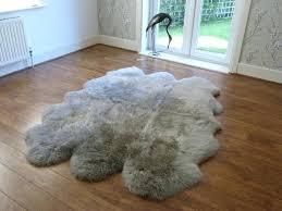 sheep skin rug sheepskin vole large rugs grey windward sheepskin quad rug