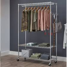 Rolling Coat Rack With Shelf Rolling Storage Shelves Wayfair 81