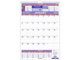 At A Glance 3 Month Wall Calendar Wall Calendars Newegg Com