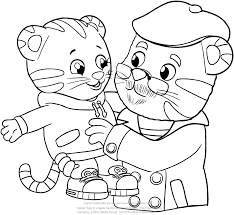 Small Picture Daniel and Grandpere Tiger coloring pages