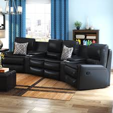 leather reclining sectional. Delighful Leather Intended Leather Reclining Sectional U