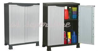 plastic storage cabinets. large plastic garden storage unit cabinet chest weatherproof cupboard shed tool | ebay plastic storage cabinets