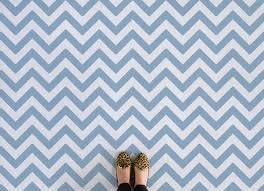 chevron i stripe vinyl flooring blue feet
