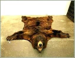 fake bear skin rug with head fake bear rug fake polar bear rug with head fake