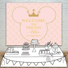 Princess Party Backdrop Baby Shower 1st Birthday Invitation