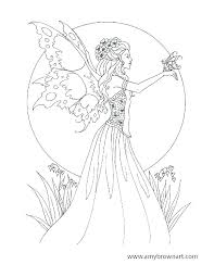 Fairy Coloring Page Barbie Fairy Coloring Pages Princess Color Pages