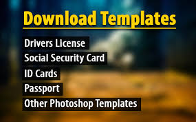 Fake License Driving Files Templates psd