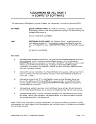 Assignment Of All Rights In Computer Software - Template & Sample ...