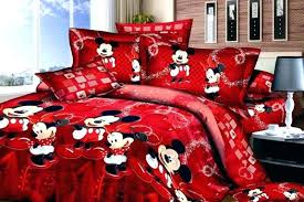 mickey and mouse bedspread bedding kissing minnie comforter sets m