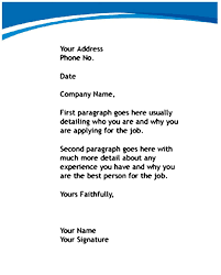 job letter how to write a job letter sample