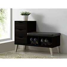 prepac ashley shoe storage bench white. Baxton Studio Arielle Modern Contemporary Wood 3 Drawer Shoe Storage Padded Leatherette Seating Bench With Two Open Shelves, Dark Brown Prepac Ashley White