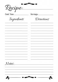 Full Page Recipe Templates Recipe Template Pdf Template Business Format
