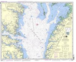 How To Read Navigation Charts Noaa Nautical Chart 12225 Chesapeake Bay Wolf Trap To Smith