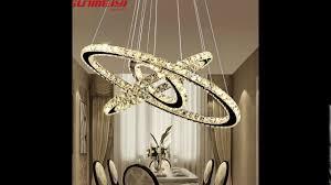 modern led crystal chandelier lights