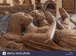 City of London The 15th century tomb of Sir John Crosby and his Stock Photo  - Alamy