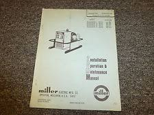 heavy equipment parts accessories for welder and miller miller 1 1e 1f roughneck arc welder 50 60 hz owner operator maintenance manual