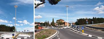 project for the new led street lighting in assisi italy with italo and babel aec eco lighting
