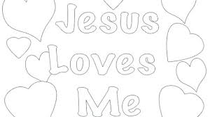 Jesus Loves Me Coloring Page Loves Me Coloring Page Of View Pages