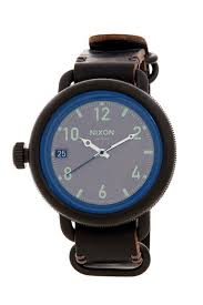 nixon men s leather strap watch nordstrom rack image of nixon men s leather strap watch
