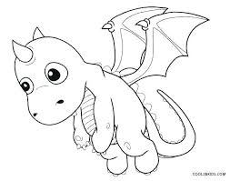 Coloring Pages Of Dragons Baby Dragon Coloring Pages Free Printable