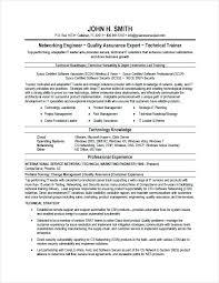 Sample Of Modern Resume For Quality Assurance Specialist Network Specialist Sample Resume Podarki Co