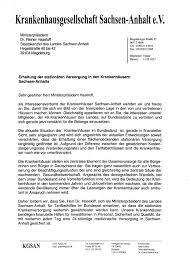 Brief an ein gericht schreiben muster. Kgsan Bittet Ministerprasident Um Unterstutzung