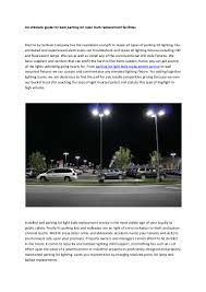 How To Change A Parking Lot Light Bulb Parking Lot Light Bulb Replacement Service