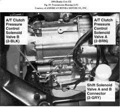 2004 honda civic code check engine light transmission problem here is the diagram of the component location