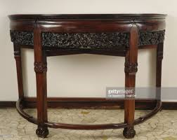 half moon console table. Bois De Fer Half-moon Console Table, Italy, 19th Century : Stock Photo Half Moon Table