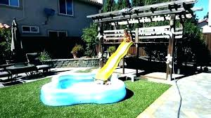 above ground pool slide.  Above In Ground Pool Slides Water Slide For Custom Pools  Swimming Above Amazon On