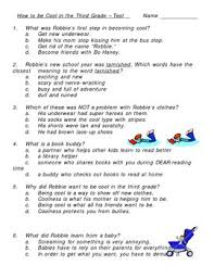 How To Be Cool In The Third Grade Multiple Choice Test By Tbird Tpt
