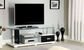 com furniture of america rave contemporary tv console with fresh black gloss corner tv stand