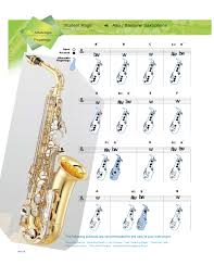 Bari Sax Finger Chart Alto And Baritone Saxophone Fingerings Free Download