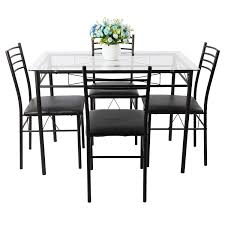 round glass dining table set for 4 fresh room eydon black and chairs