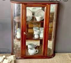 Antique curio cabinet curved glass | antique victorian keystone quartered oak curved glass curio. Bombay Company Curved Glass Curio Cabinet Vintage 3 Shelf Display China Cabinets Hutches Picayune Mississippi Facebook Marketplace Facebook