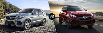 2019 mb gle suv exterior front fascia and drivers side vs 2019 mb gle coupe exterior