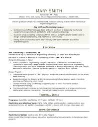 Mechanical Engineering Resume Templates New See Engineer Entry