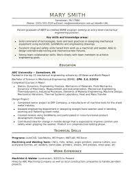 Engineer Resume Template Mechanical engineering resume templates new see engineer entry 46