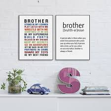 Quote Prints Fascinating Brother Quote Prints Wall Art Canvas Poster Big Brother Gift