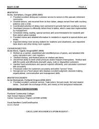 Cover Letter Waitress Waitress Resume Examples Example Waiters